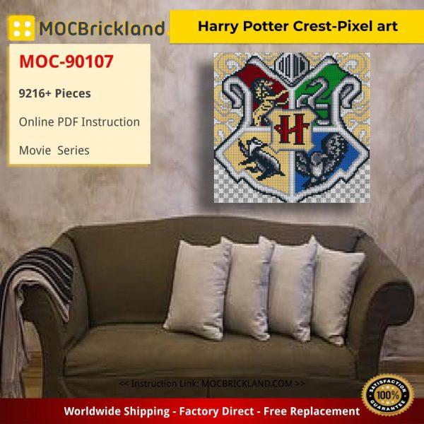 Harry Potter Crest-Pixel art Movie MOC-90107 WITH 9216 PIECES