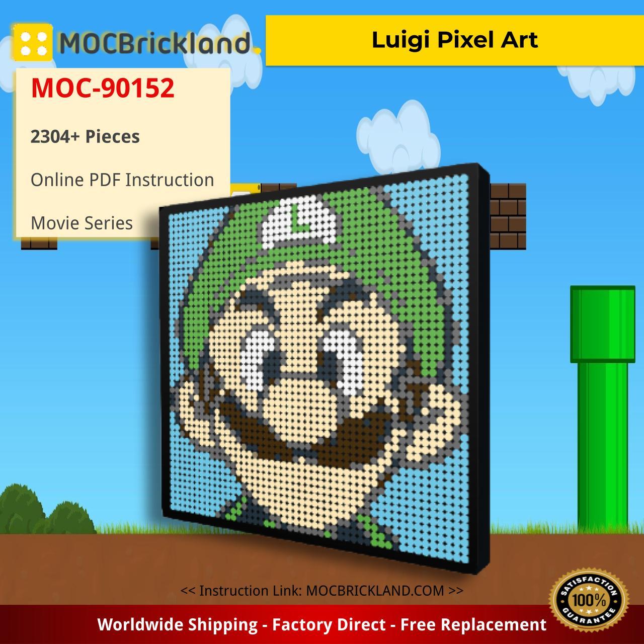 Movie MOC-90152 Luigi Pixel Art MOCBRICKLAND