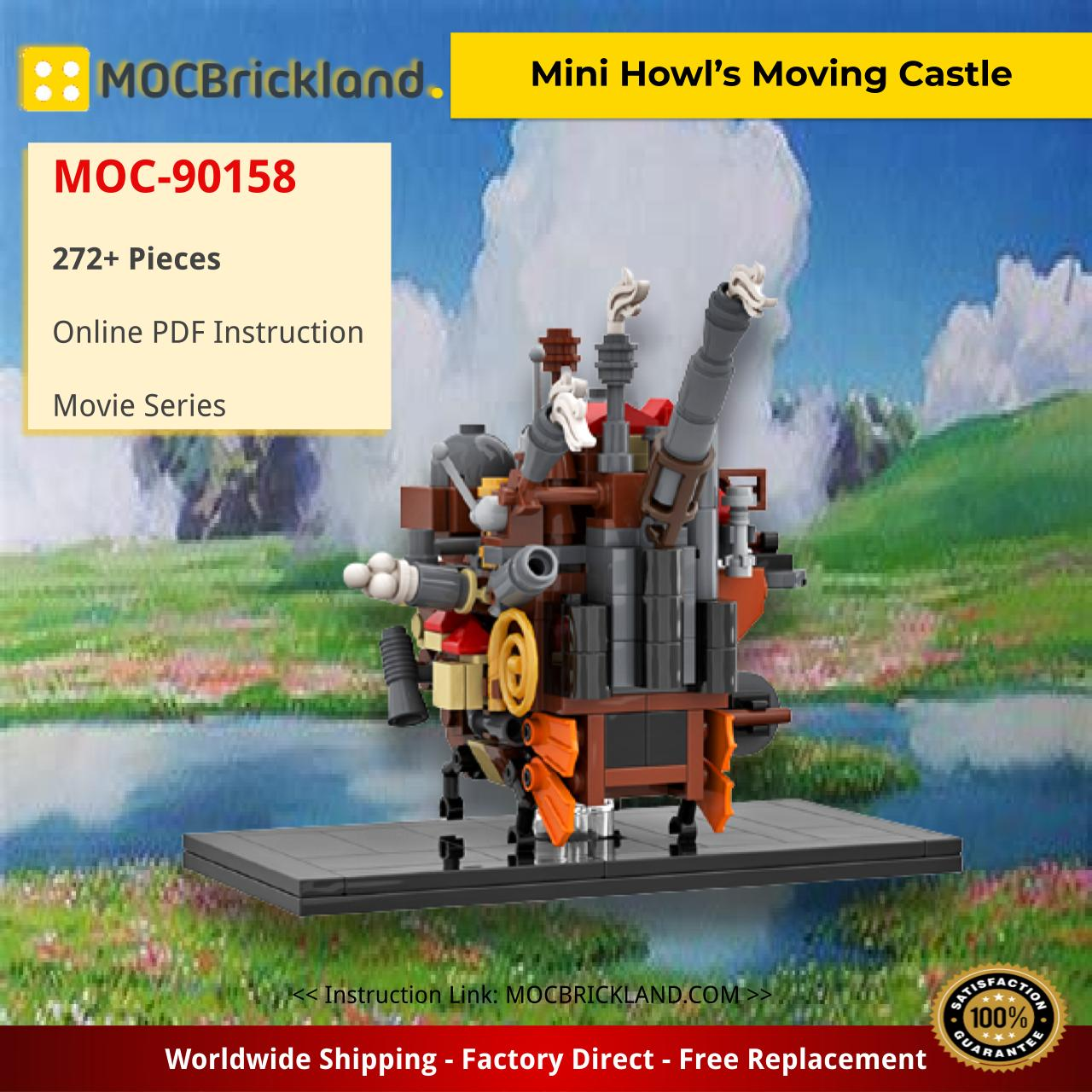 Mini Howl's Moving Castle Movie MOC-90158 WITH 272 PIECES