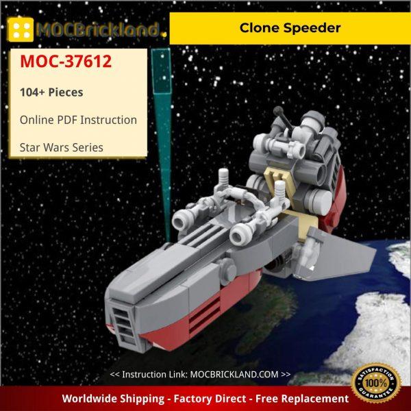 Star Wars MOC-37612 Clone Speeder by ohsojang MOCBRICKLAND