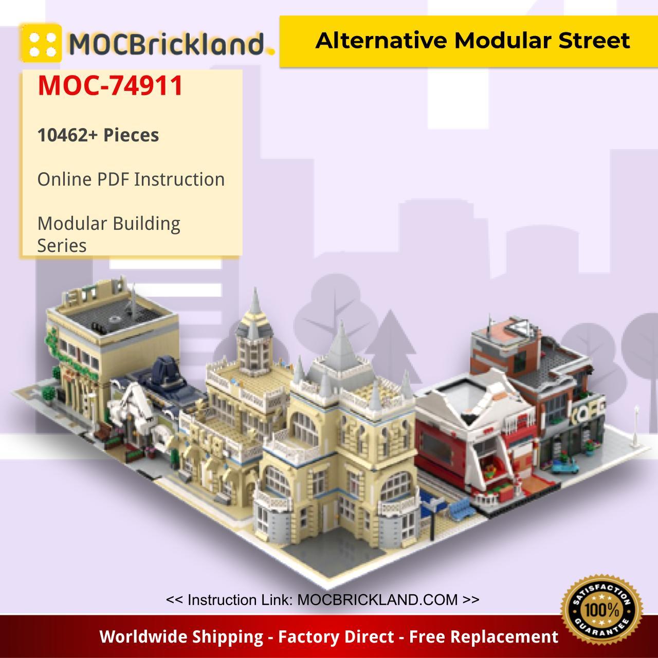 Alternative Modular Street Modular Building MOC-74911 by gabizon WITH 10462 PIECES