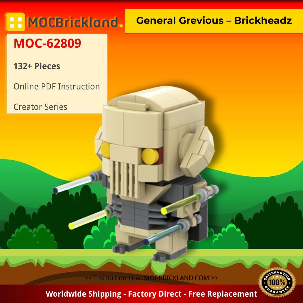 General Grevious – Brickheadz Creator MOC-62809 by BrickBuilt Creations with 132 pieces