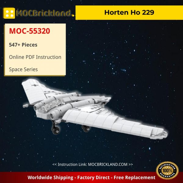 Horten Ho 229 Space MOC-55320 by Germanrailwaybuilder with 547 pieces