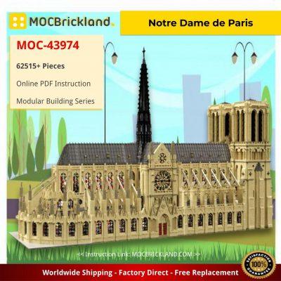 Notre Dame de Paris in France – Modular Building Dimension MOC-43974 by STEBRICK WITH 62515 PIECES