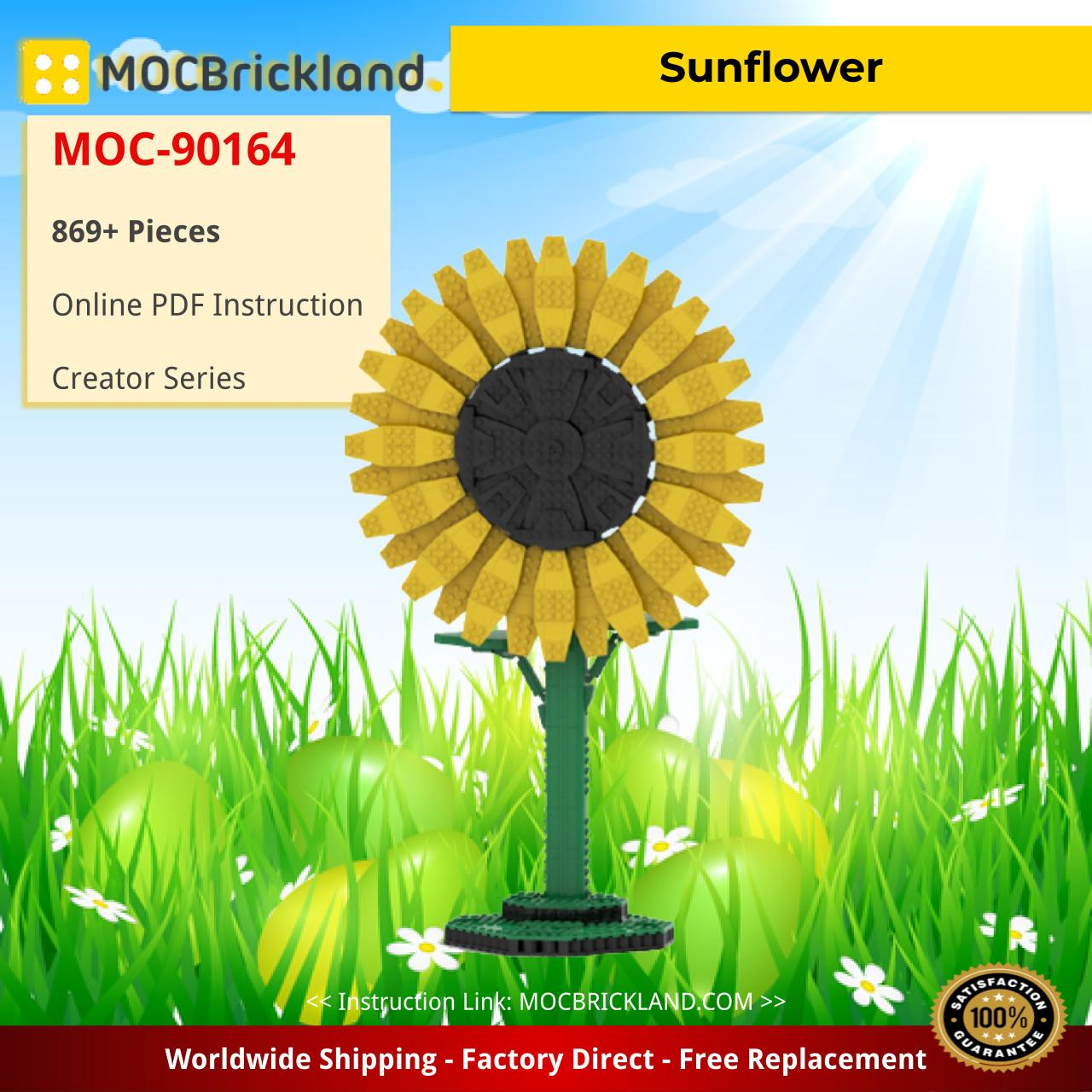 Sunflower Creator MOC-90164 WITH 869 PIECES