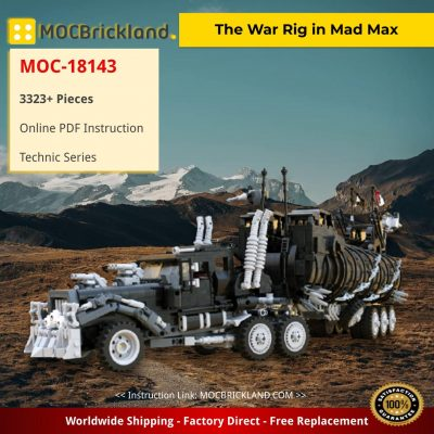The War Rig in Mad Max Technic MOC-18143 by brickvault with 3323 Pieces