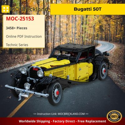 Bugatti 50T TECHNIC MOC-25153 by Marthart with 3458 Pieces