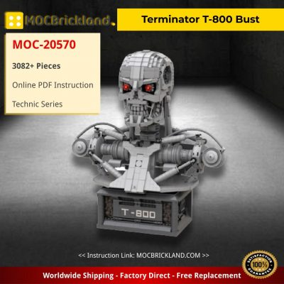Terminator T-800 Bust Technic MOC-20570 By Martin Latta with 3082 Pieces