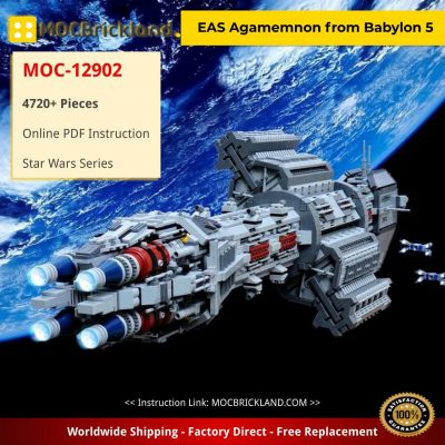 EAS Agamemnon from Babylon 5 Star Wars MOC-12902 with 4720 Pieces