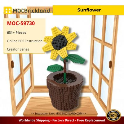Sunflower Creator MOC-59730 by anakin2001 WITH 631 PIECES