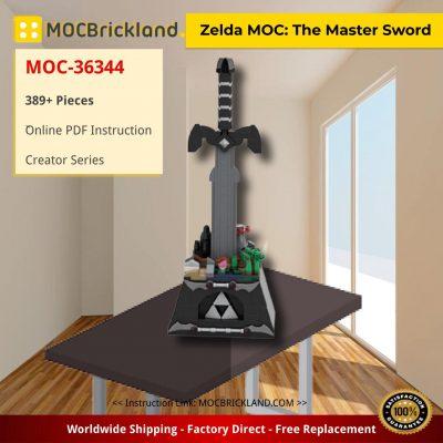 Zelda MOC: The Master Sword Creator MOC-36344 by SkywardBrick WITH 389 PIECES