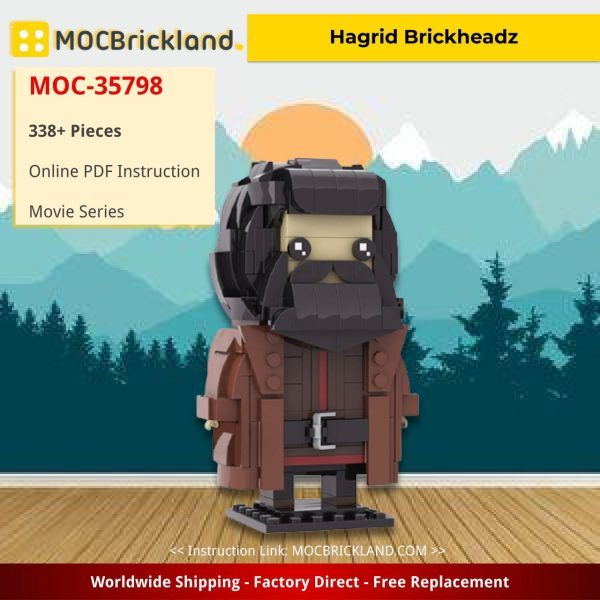 Hagrid Brickheadz Movie MOC-35798 by custominstructions WITH 338 PIECES