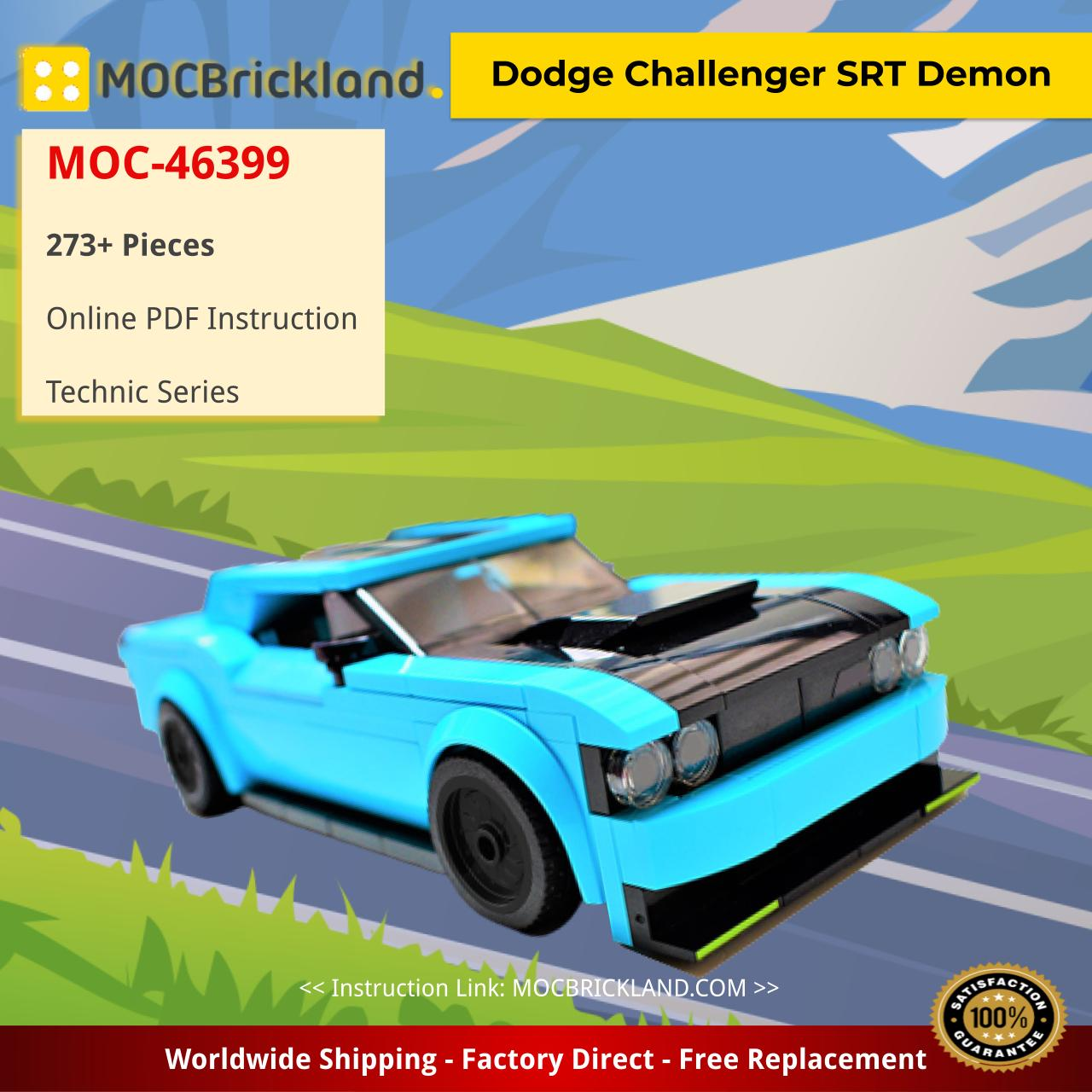 Dodge Challenger SRT Demon Technic MOC-46399 by brickengineeringdude WITH 273 PIECES