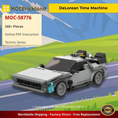 DeLorean Time Machine Movie MOC-58776 by legotuner33 WITH 345 PIECES