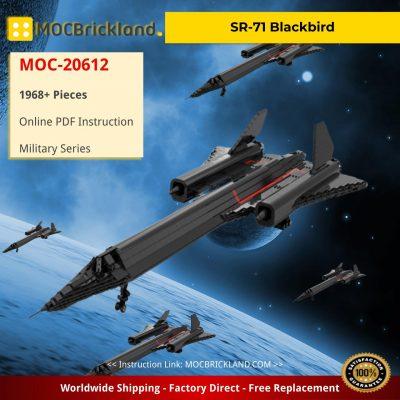 SR-71 Blackbird Military MOC-20612 by HeatproofNut WITH 1968 PIECES