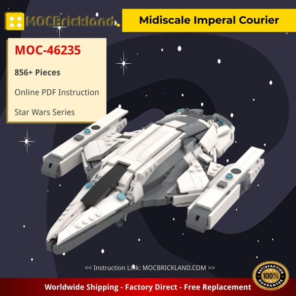 Midiscale Imperal Courier Star Wars MOC-46235 by TheRealBeef1213 WITH 856 PIECES
