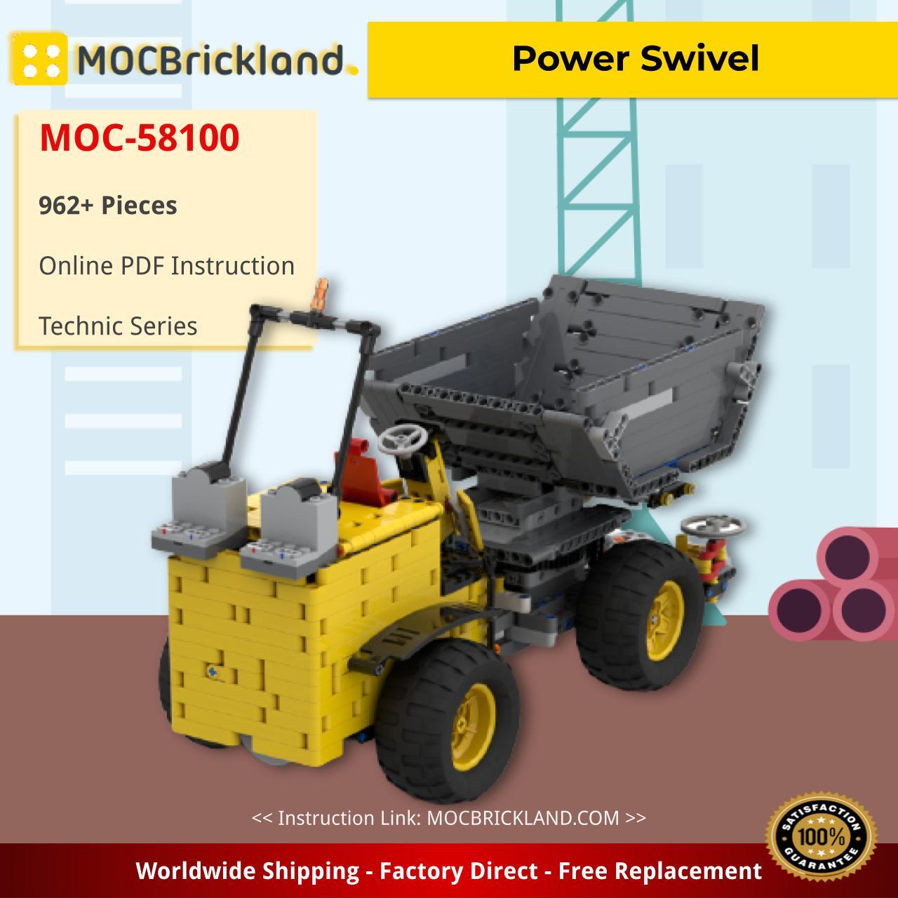 Power Swivel Technic MOC-58100 by Verni-Berni WITH 962 PIECES