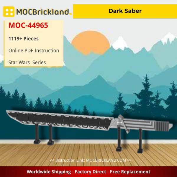 Dark Saber Star Wars MOC-44965 by dmarkng WITH 1119PIECES