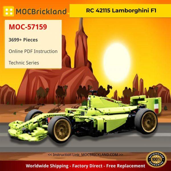 RC 42115 Lamborghini F1 Technic MOC-57159 by WW Bricks Studio WITH 3699 PIECES