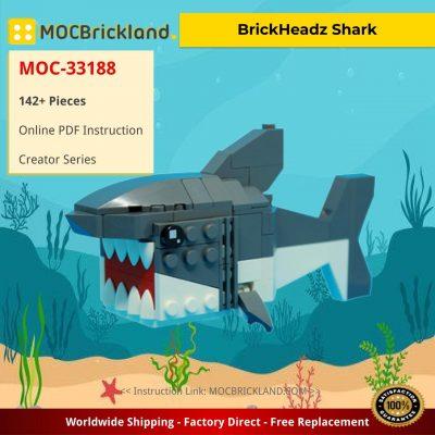 BrickHeadz Shark Creator MOC-33188 by Leewan WITH 142 PIECES