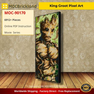 King Groot Pixel Art Movie MOC-90170 WITH 6912 PIECES