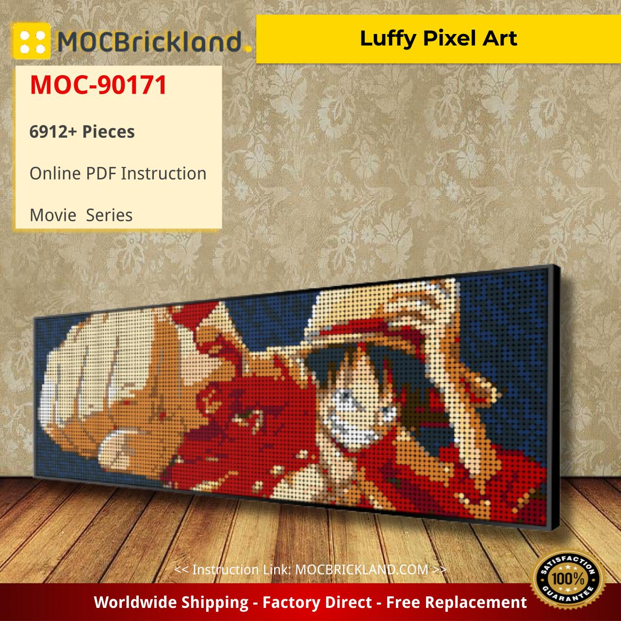 Luffy Pixel Art Movie MOC-90171 WITH 6912 PIECES
