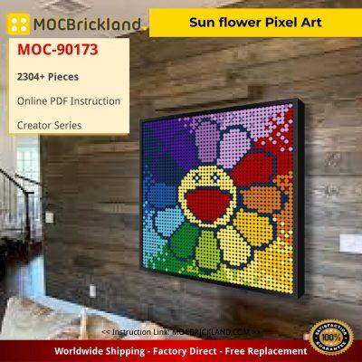 Sun flower Pixel Art Creator MOC-90173 WITH 2304 PIECES