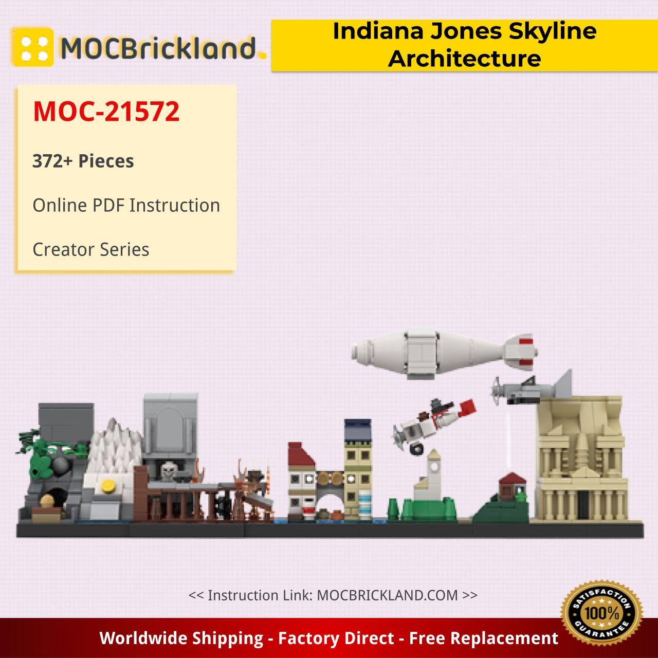Indiana Jones Skyline Architecture Creator MOC-21572 by MOMAtteo79 WITH 372 PIECES