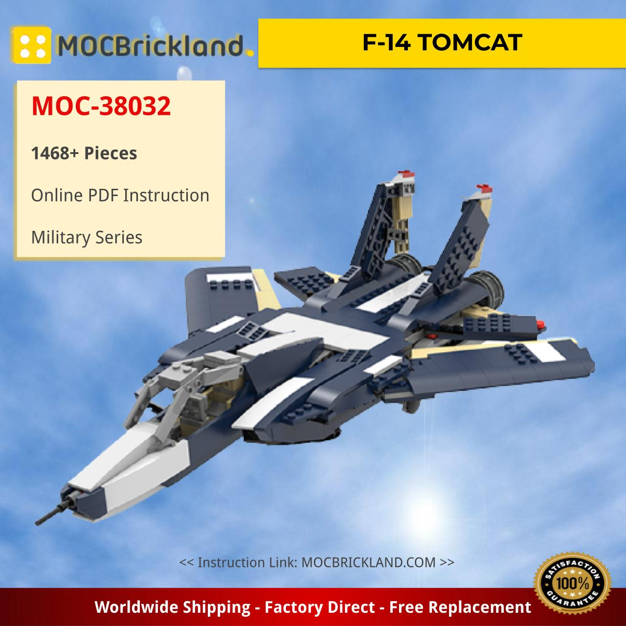 F-14 TOMCAT Military MOC-38032 by ale0794 WITH 1468 PIECES