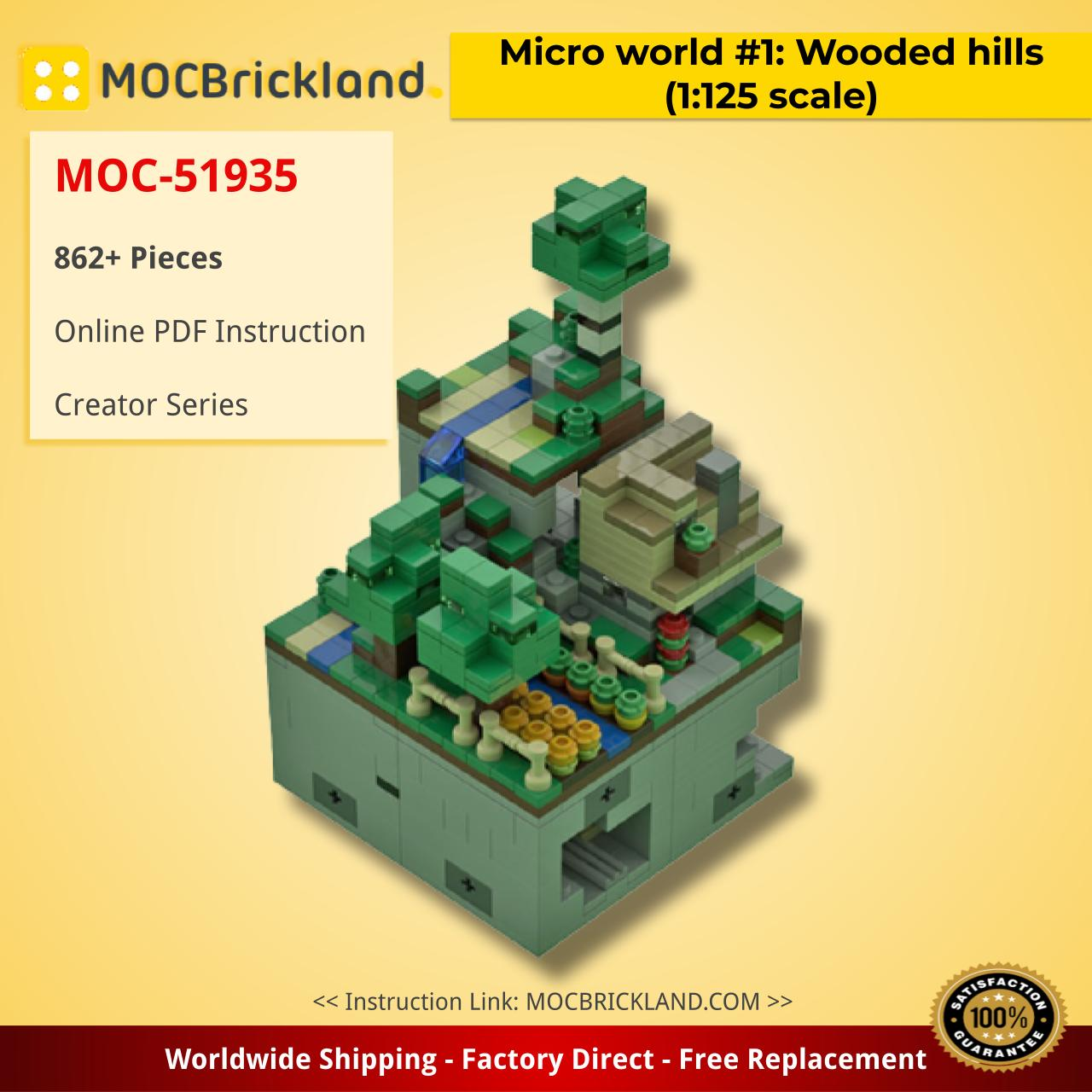 Micro world #1: Wooded hills (1:125 scale) Creator MOC-51935 by Mobilbenja WITH 862 PIECES