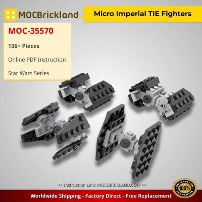 Micro Imperial TIE Fighters Star Wars MOC-35570 by ron_mcphatty WITH 136 PIECES