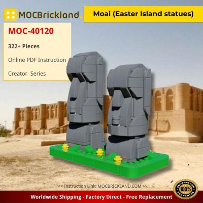 Moai (Easter Island statues) Creator MOC-40120 by veyniac WITH 322 PIECES