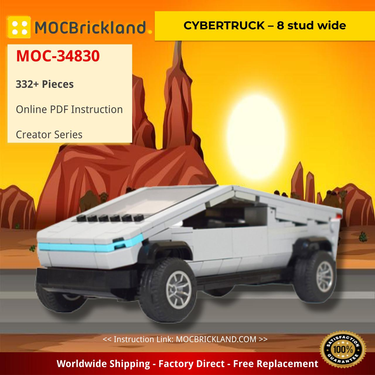 CYBERTRUCK – 8 stud wide Creator MOC-34830 by thegbrix WITH 332 PIECES