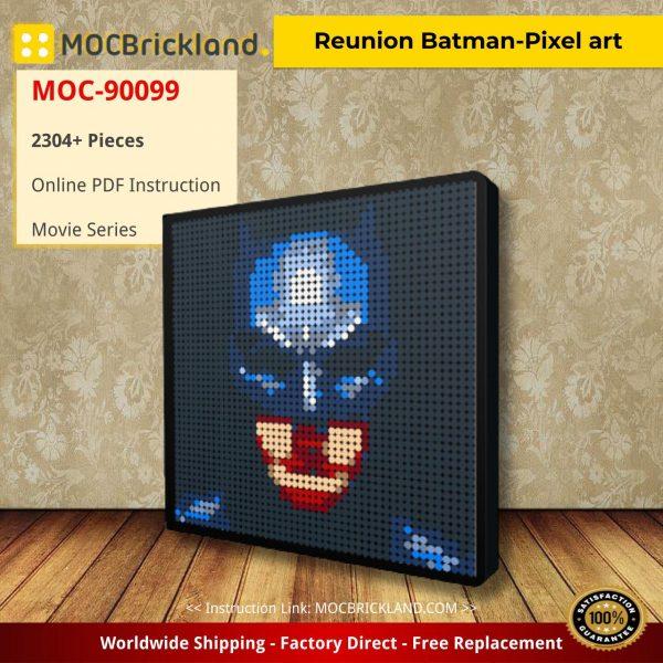 Reunion Batman-Pixel art Movie MOC-90099 WITH 2304PIECES