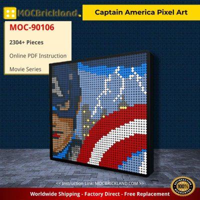 Captain America Pixel Art Movie MOC-90106 WITH 2304 PIECES
