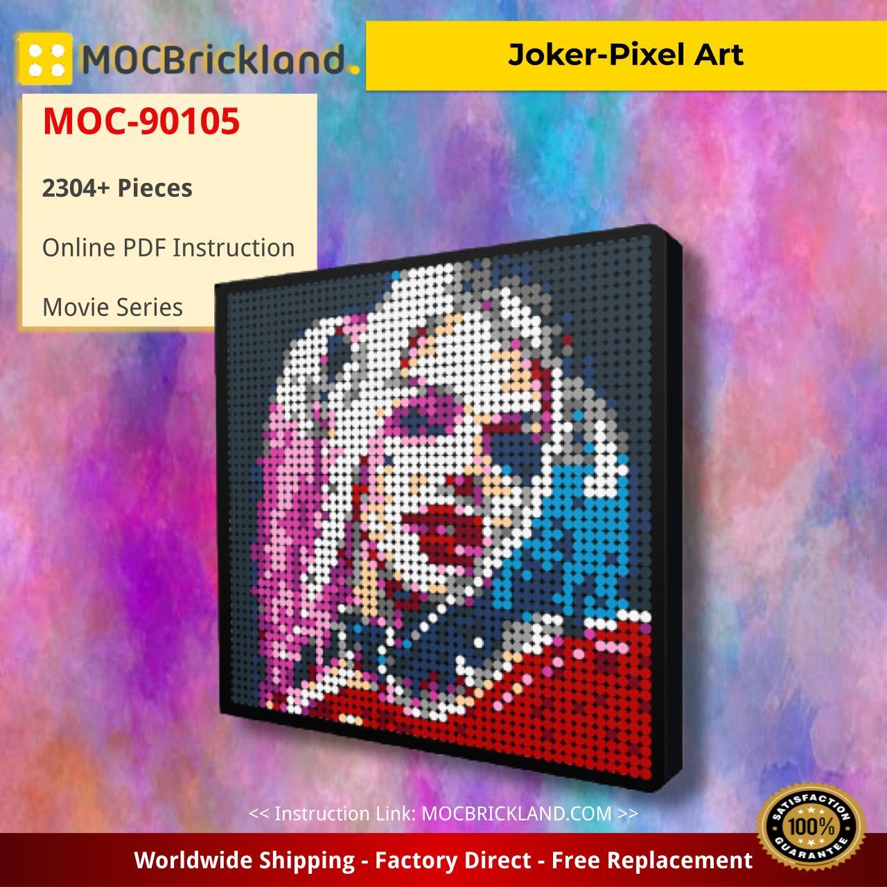 Joker-Pixel Art Movie MOC-90105 WITH 2304 PIECES
