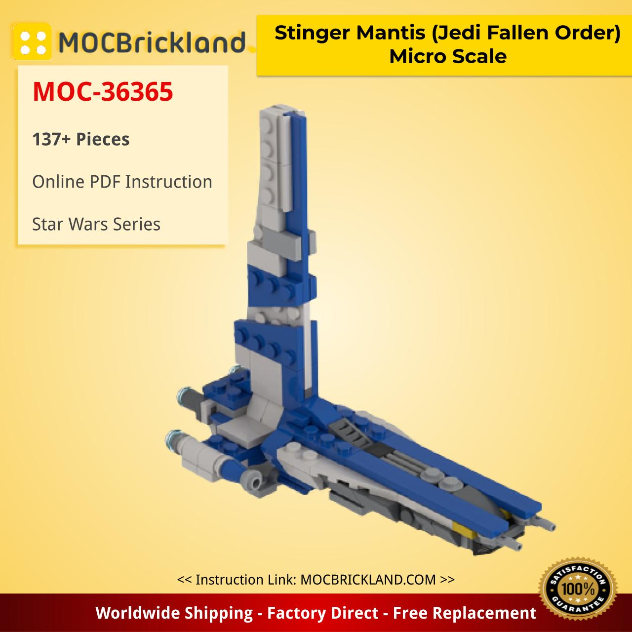 Stinger Mantis (Jedi Fallen Order) Micro Scale Star Wars MOC-36365 by 2bricksofficial WITH 137 PIECES