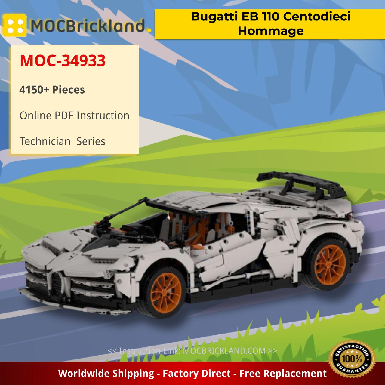 Bugatti EB 110 Centodieci Hommage Technic MOC-34933 by The one from the Swabian WITH 4150 PIECES