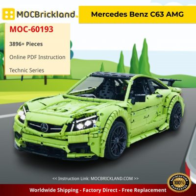 Mercedes Benz C63 AMG Technic MOC-60193 by Loxlego WITH 3896 PIECES