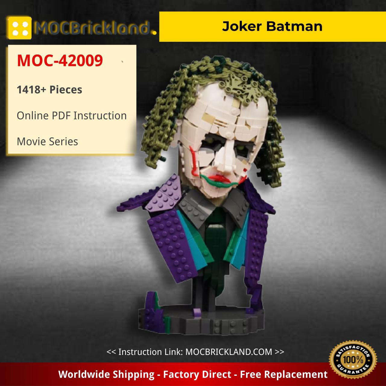 Joker Batman Movie MOC-42009 by Timofey_Tkachev WITH 1418 PIECES