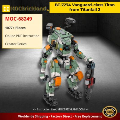 BT-7274 Vanguard-class Titan from Titanfall 2 Creator MOC-68249 by KMX Creations WITH 1077 PIECES