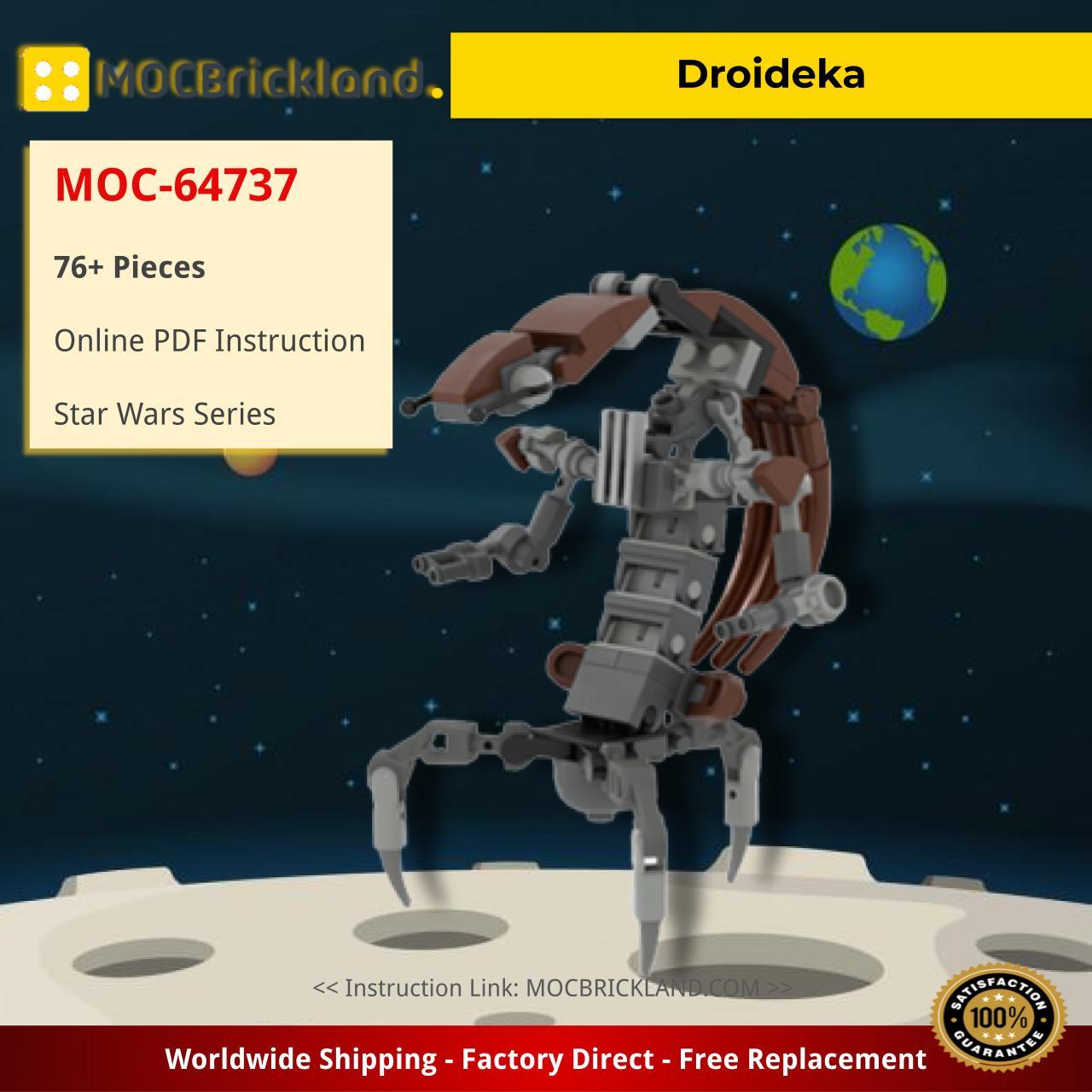 Droideka Star Wars MOC-64737 by JJ_Binks WITH 76 PIECES