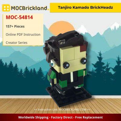 Tanjiro Kamado BrickHeadz-Demon Slayer/Kimetsu No Yaiba Creator MOC-54814 by NinjaChips20 WITH 157 PIECES