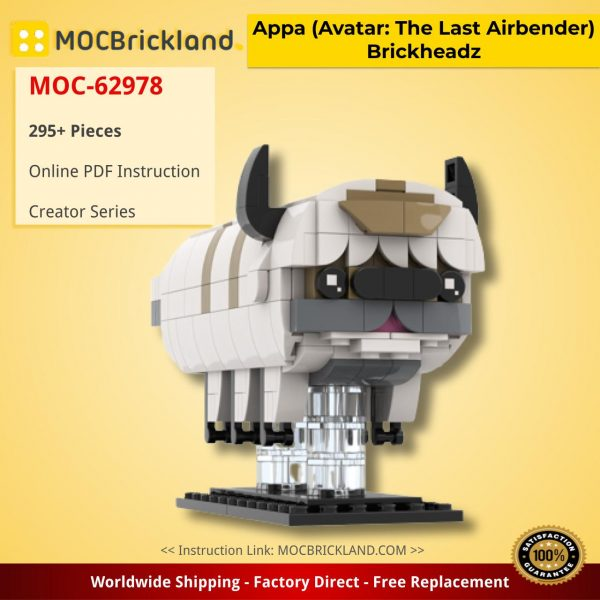 Appa (Avatar: The Last Airbender) Brickheadz Creator MOC-62978 by DrBrickheadz WITH 295 PIECES