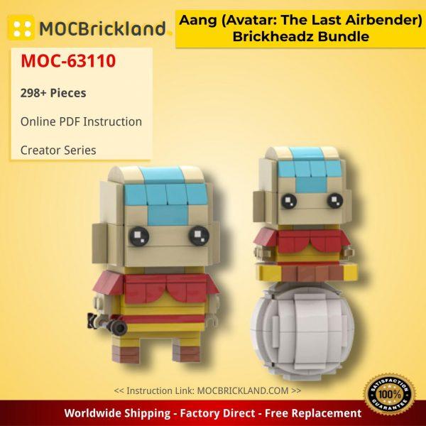 Aang (Avatar: The Last Airbender) Brickheadz Bundle Creator MOC-63110 by DrBrickheadz WITH 298 PIECES