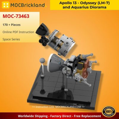 Apollo 13 – Odyssey (LM-7) and Aquarius Diorama SPACE MOC-73463 by Adamdw with 170 pieces