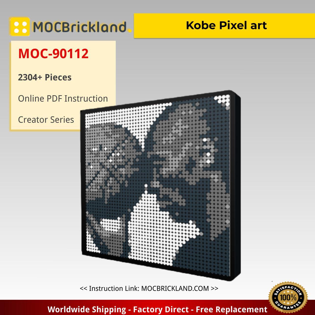 Kobe Pixel art MOC-90112 Creator With 2304 Pieces
