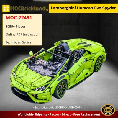 Lamborghini Huracan Evo Spyder Technic MOC-72491 by Loxlego with 3055 pieces