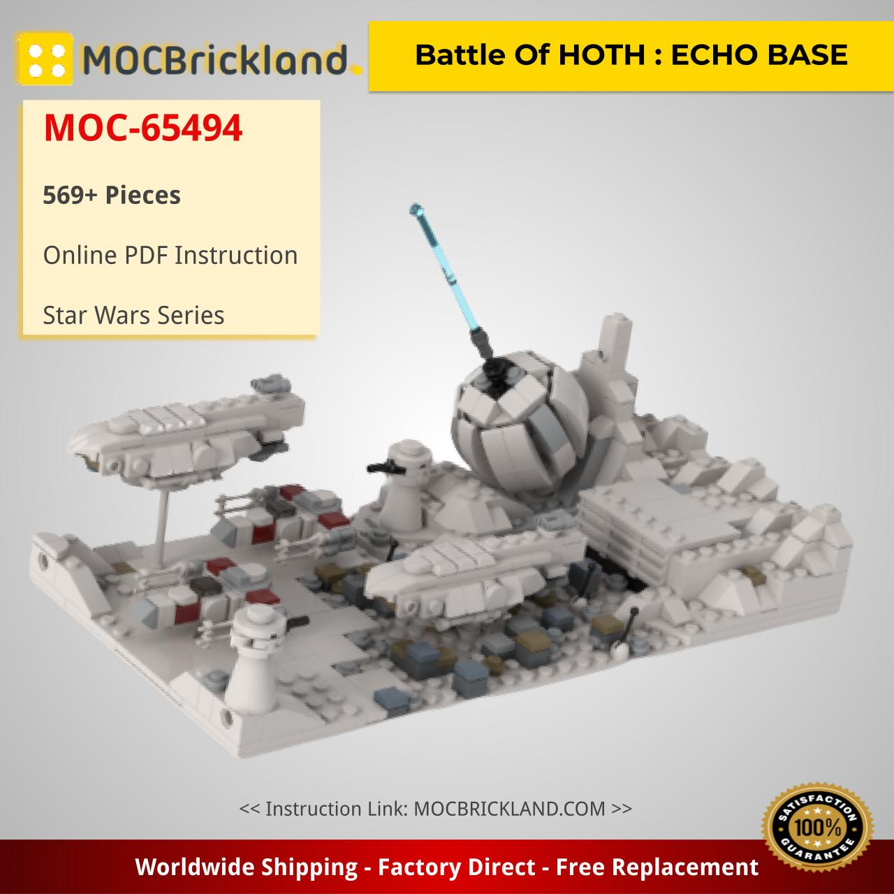 Battle Of HOTH : ECHO BASE MOC-65494 by jellco with 569 Pieces