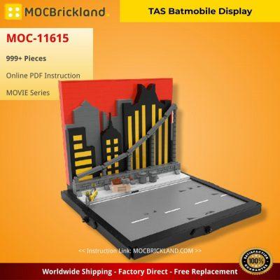 TAS Batmobile Display MOVIE MOC-11615 by BricksFeeder WITH 999 PIECES
